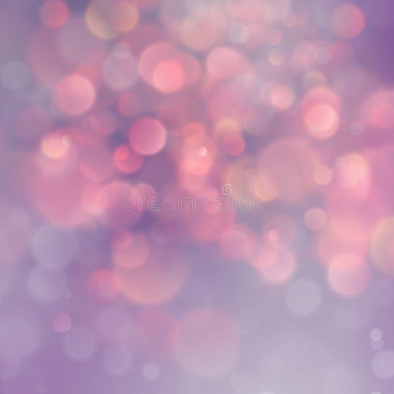 Beau rose et fond magique orange de bokeh de lumières de scintillement avec la vignette ENV 10 illustration stock