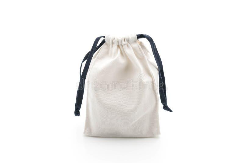 beau sac de tissu sur le blanc image libre de droits