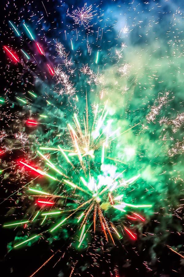 Beau salut de fête multicolore image stock