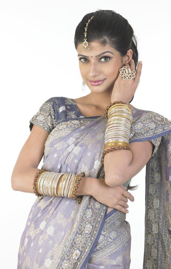beau sari de fille photos stock