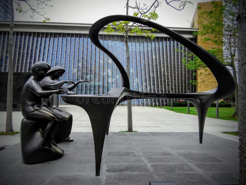 Beau sculptureof abstrait Shenzhen photos stock