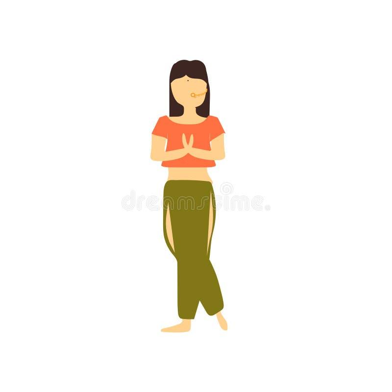 Beau signe et symbole de vecteur de vecteur de danse de fille d'isolement sur le fond blanc, beau concept de logo de vecteur de d illustration stock