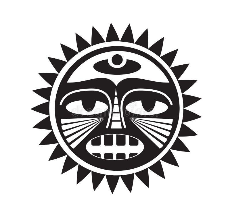 Beau tatouage polynésien de style illustration libre de droits