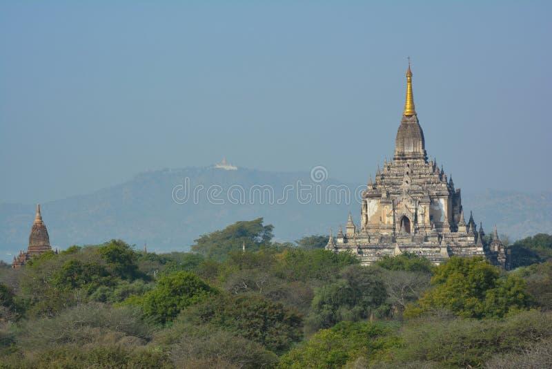 Beau temple de Gawdawpalin situé dans Bagan, Myanmar photographie stock libre de droits