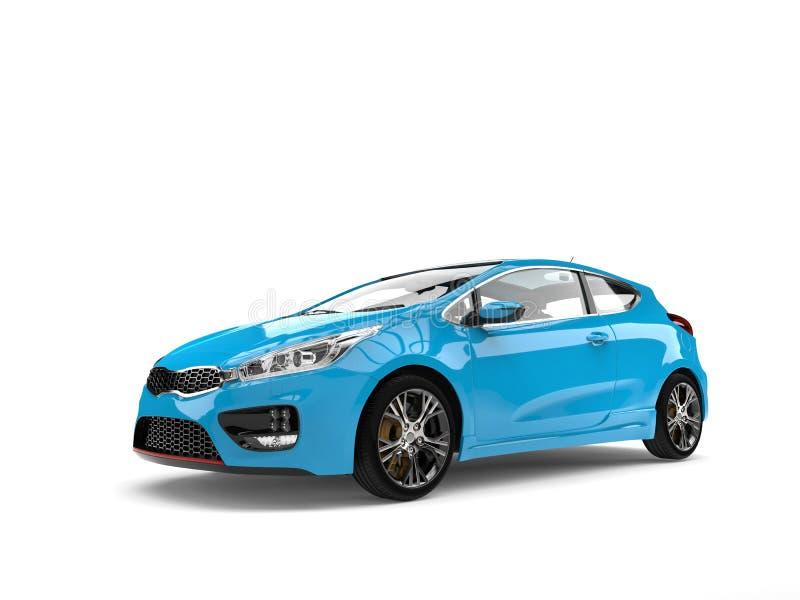Beau tir automobile électrique moderne de beauté de bleu de ciel illustration de vecteur
