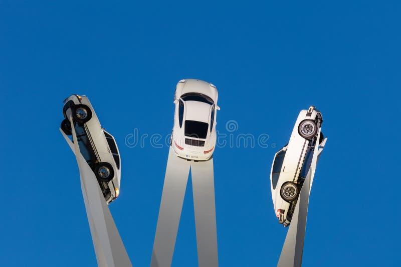 Beau tir crépusculaire de Porscheplatz de Gerry Judah chez le Stu image stock