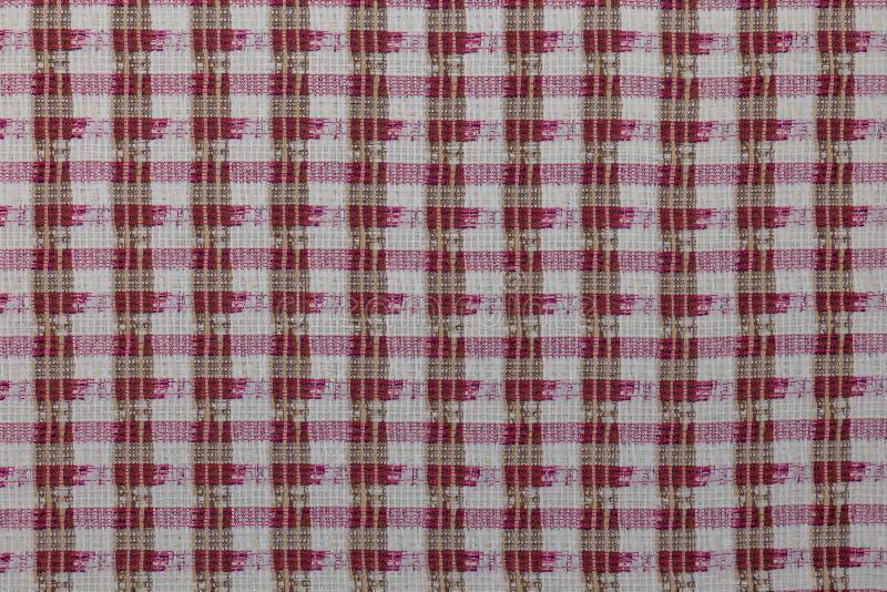 Beau tissu créatif avec le fond à carreaux de texture de textile photos libres de droits