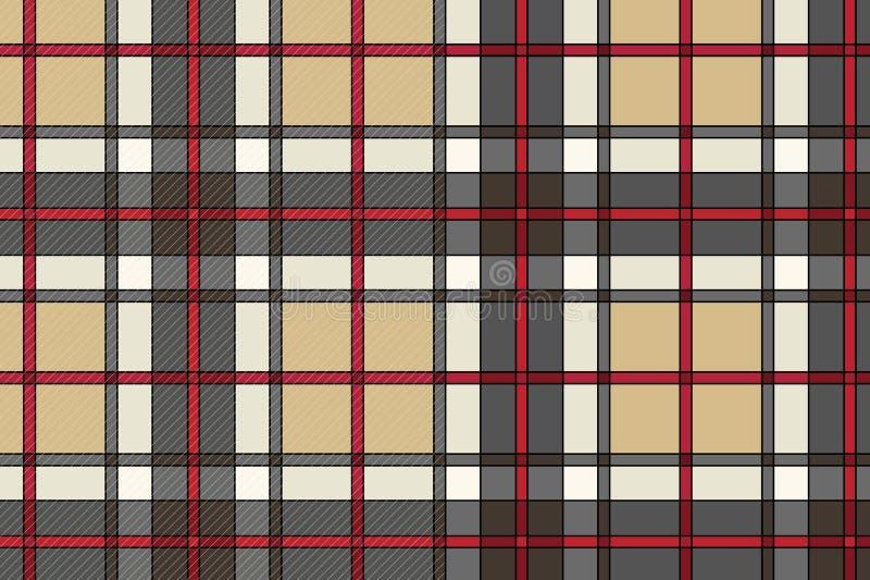 Beau tissu d'écossais de vecteur illustration libre de droits