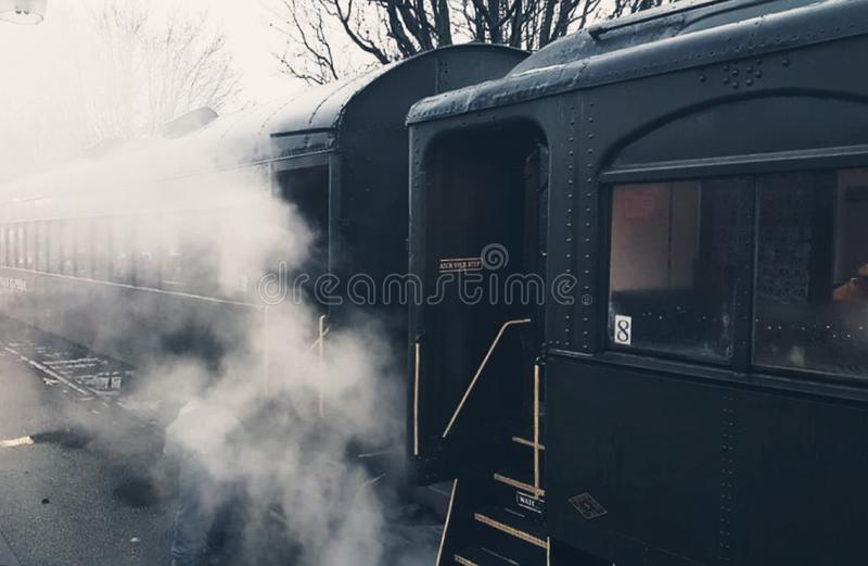 Beau train de vapeur photo stock