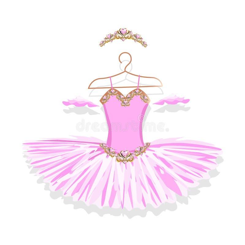 Beau tutu de ballet sur un cintre illustration libre de droits
