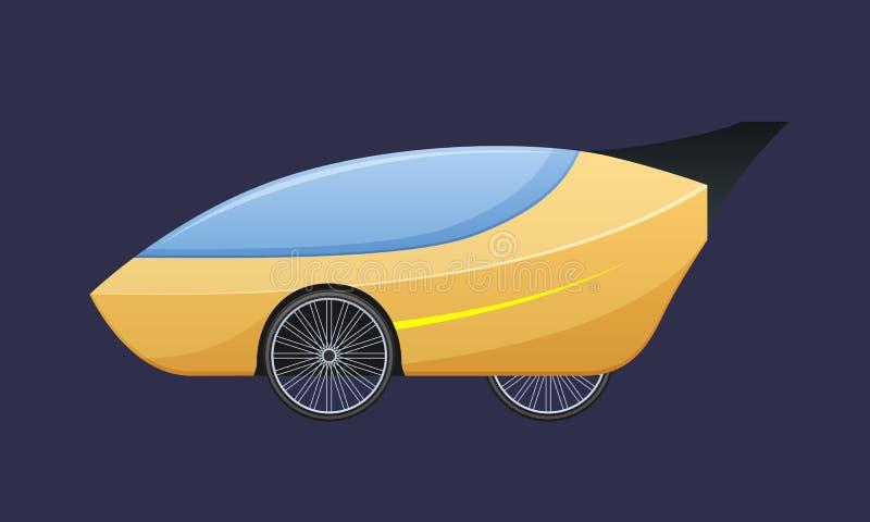 Beau véhicule électrique cher de simple-Seat, automobile avec des portes s'ouvrant vers le haut illustration libre de droits