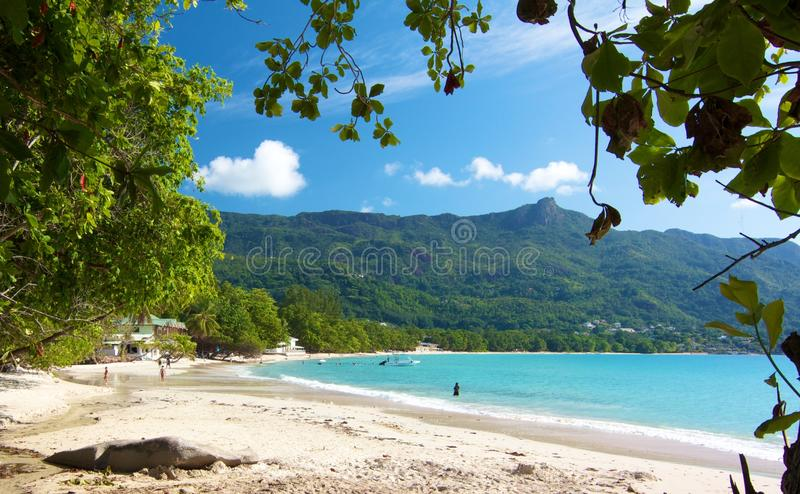 Download Beau Vallon beach 2 stock photo. Image of cloud, beau - 27902574