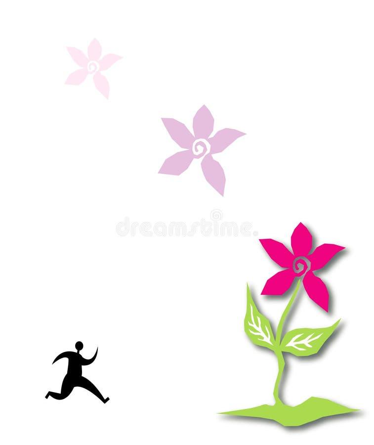 beau vecteur de fleur illustration stock