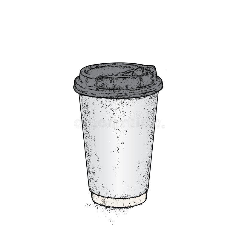 Beau verre avec du café Illustration de vecteur Concept prêt illustration libre de droits