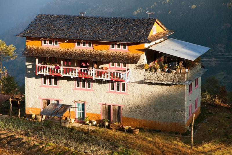Beau village de Bazar de Khiji de nin de petite maison images libres de droits