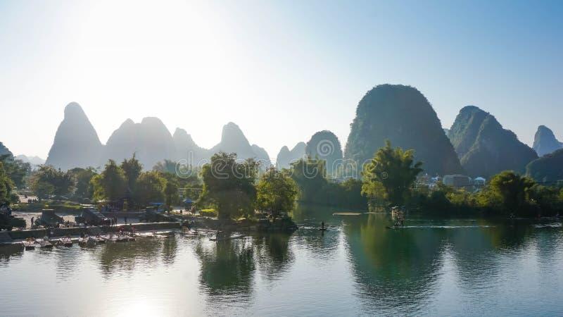 Beau village de Yangshuo, Chine images libres de droits