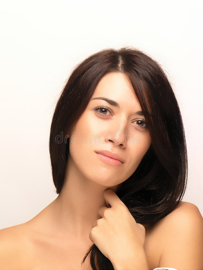 Beau visage de femme photo stock