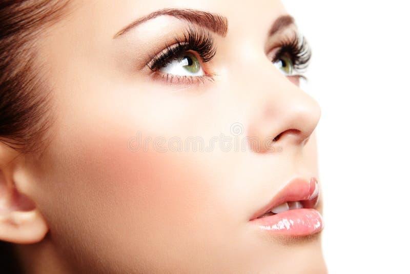 Beau visage de femme. Maquillage parfait image libre de droits
