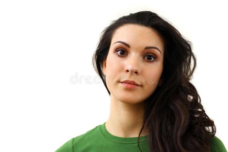 Beau visage de fille image libre de droits