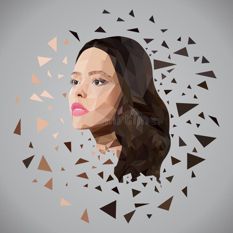 Beau visage de fille des triangles photographie stock