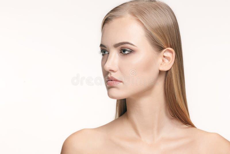 Beau visage de fille Peau parfaite image libre de droits