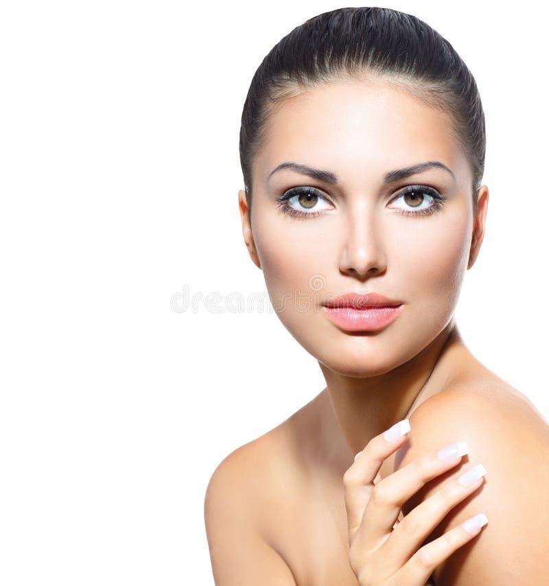 Beau visage de jeune femme photo stock