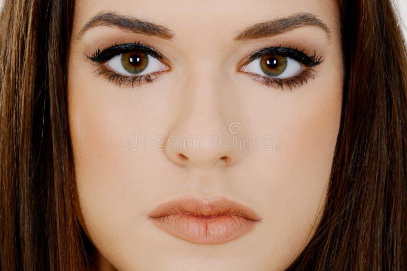 Beau visage de jeune femme avec la peau fraîche propre image libre de droits