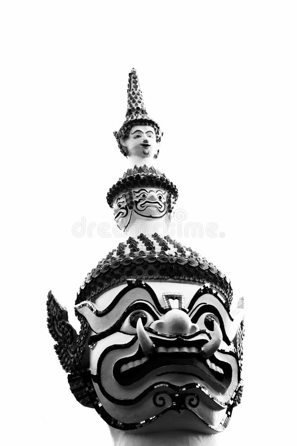 Beau visage de plan rapproché du géant à l'arun de Wat dans Bkk, Thaïlande image libre de droits