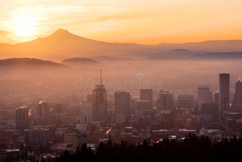 Beau Vista de Portland, Orégon image libre de droits