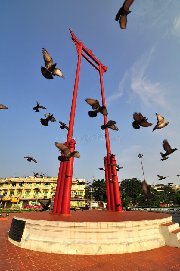 Beau voyage en Thaïlande avec le géant Wing Landmark images libres de droits