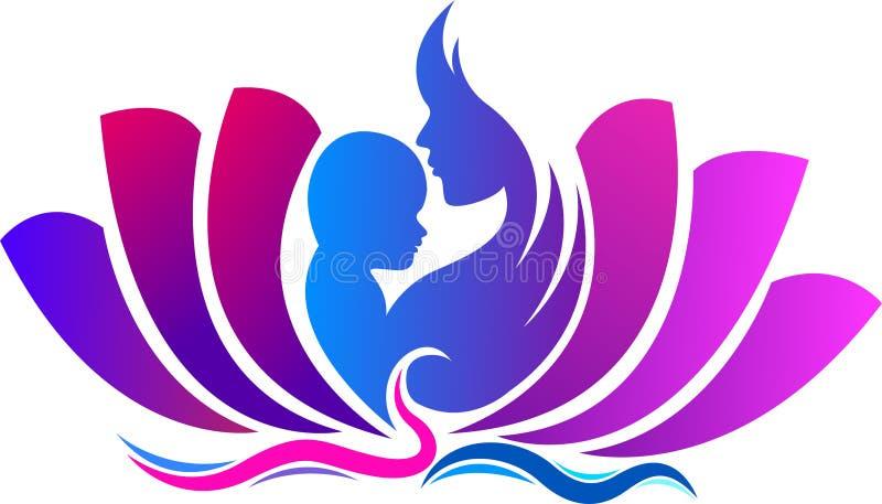 Beau yoga de maternité illustration stock