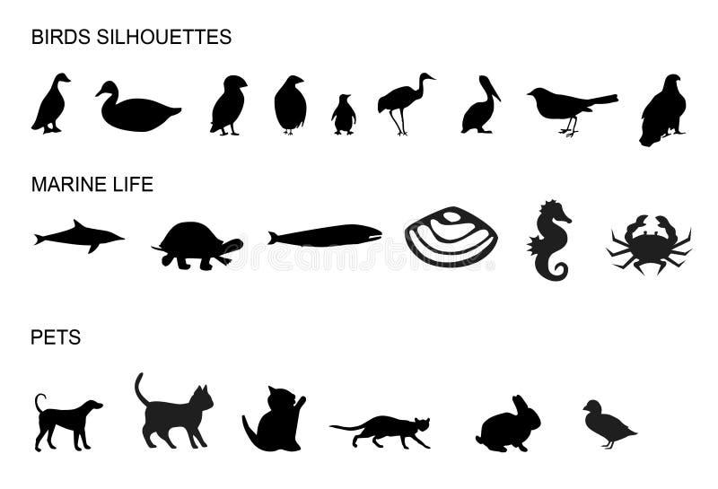 Beaucoup d'animaux illustration libre de droits