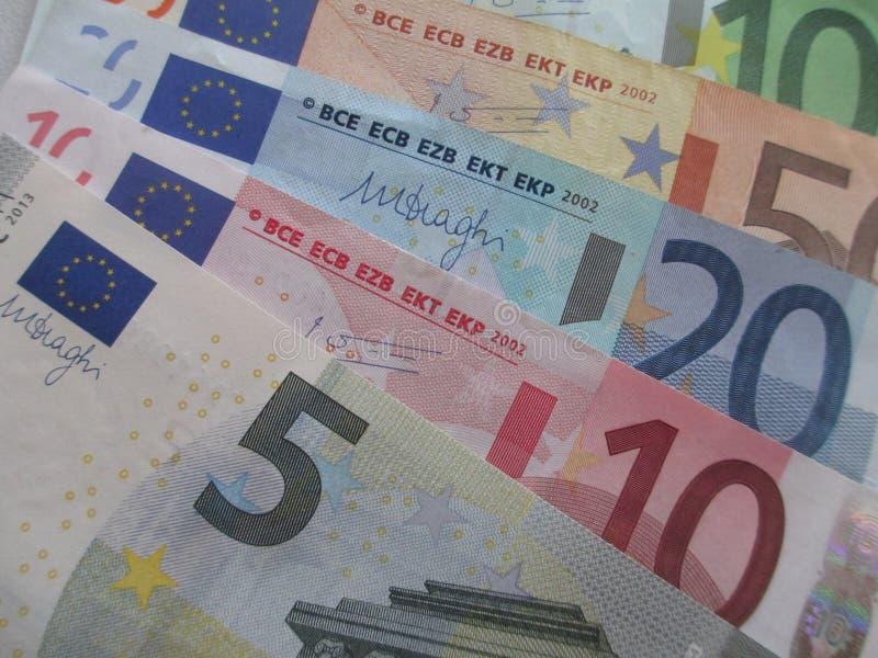 Beaucoup d'argent européen photographie stock