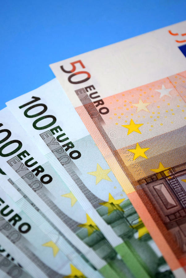Beaucoup d'argent européen images libres de droits