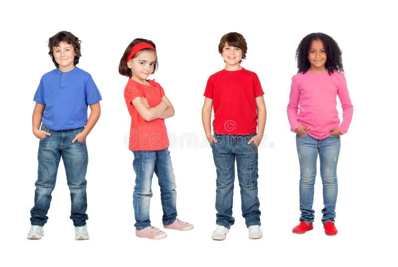 Beaucoup d'enfants photo stock