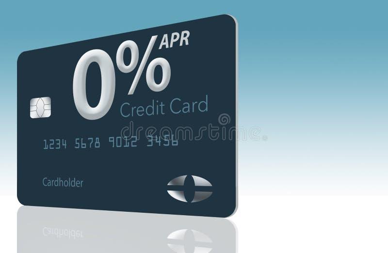 Beaucoup d'offres de carte de crédit incluent maintenant le taux des pourcentages annuel de zéro pour cent pendant 12-15 mois et  illustration stock