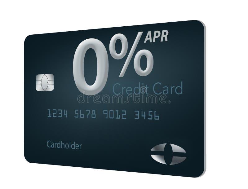 Beaucoup d'offres de carte de crédit incluent maintenant le taux des pourcentages annuel de zéro pour cent pendant 12-15 mois et  illustration libre de droits