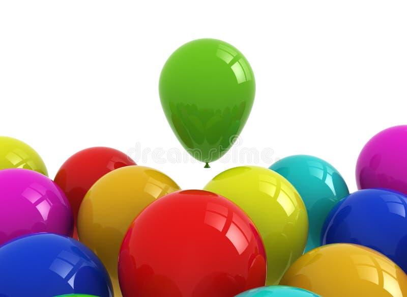 Beaucoup de ballons colorés illustration stock