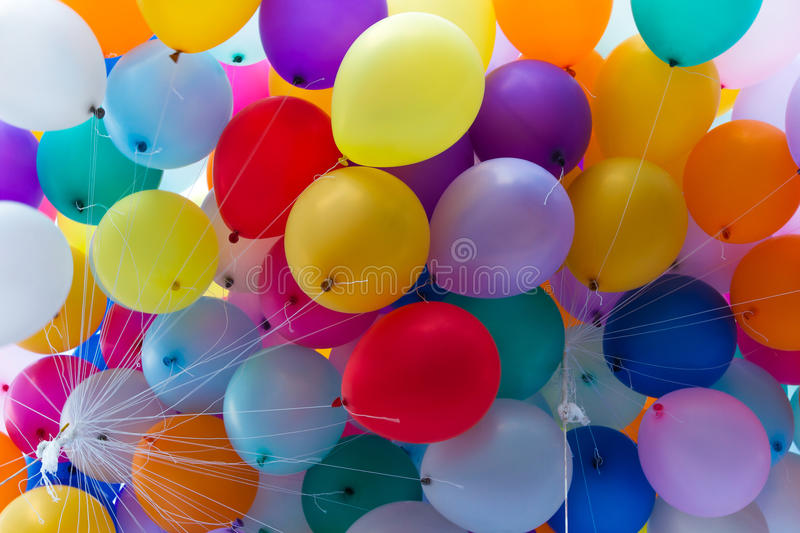 Beaucoup de ballons colorés photo stock