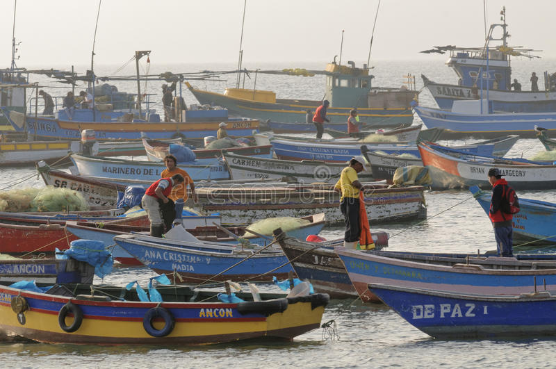Beaucoup de bateaux photo stock