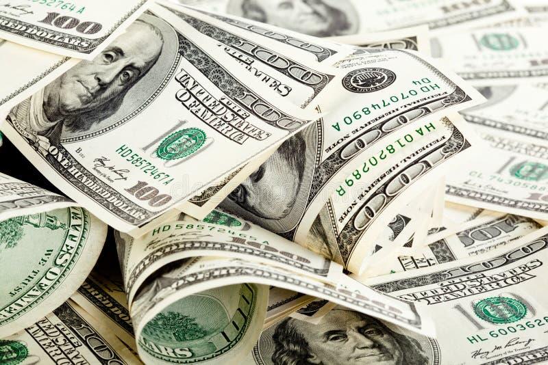 Beaucoup de billets de banque du dollar photographie stock libre de droits