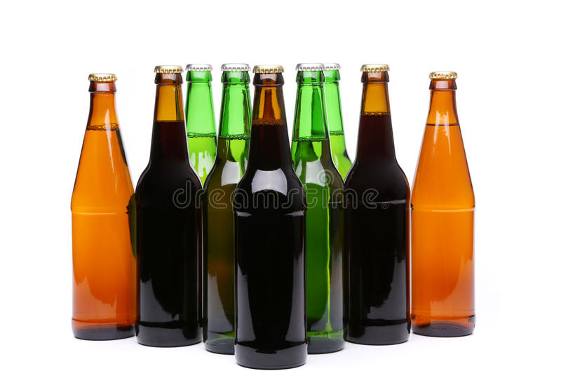 Beaucoup de bouteilles de bière photo libre de droits