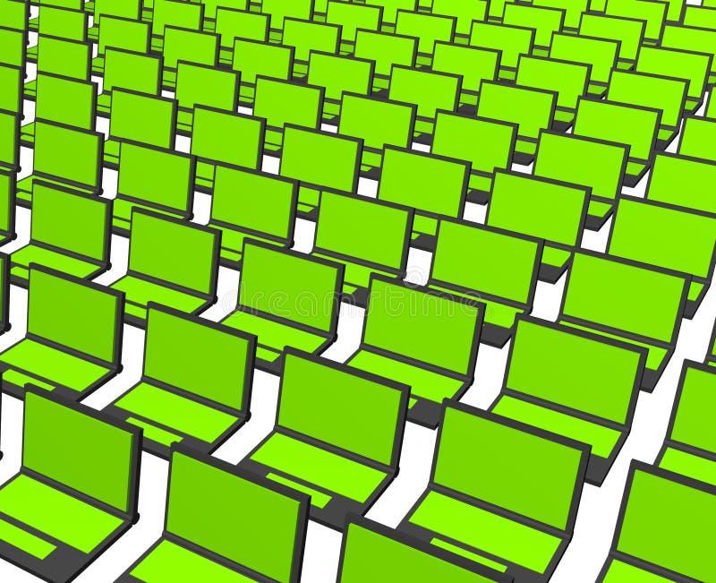 Beaucoup de cahiers d'ordinateur illustration de vecteur