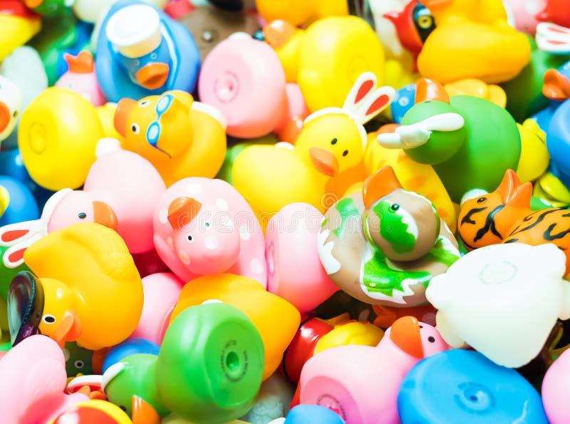 Beaucoup de canards en caoutchouc image stock