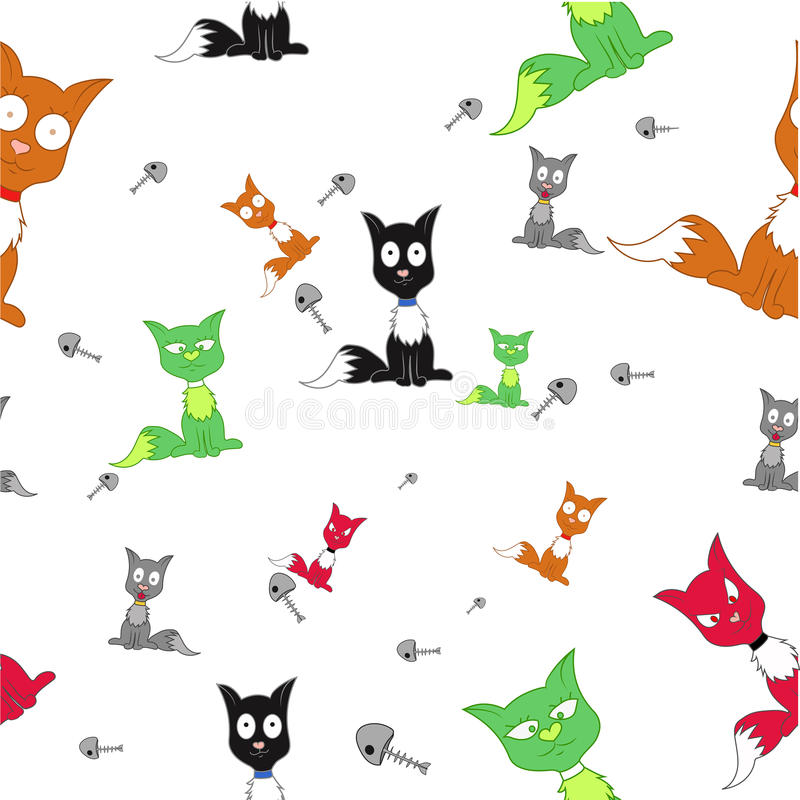 Beaucoup de chats illustration de vecteur