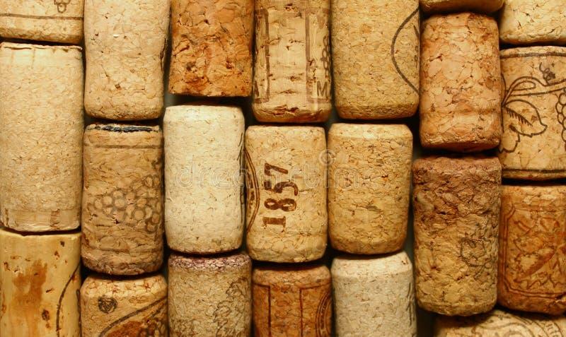Beaucoup de différents lièges de vin image stock