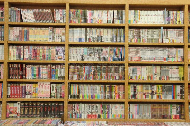 Beaucoup de différents livres sur les bibliothèques en bois photo libre de droits