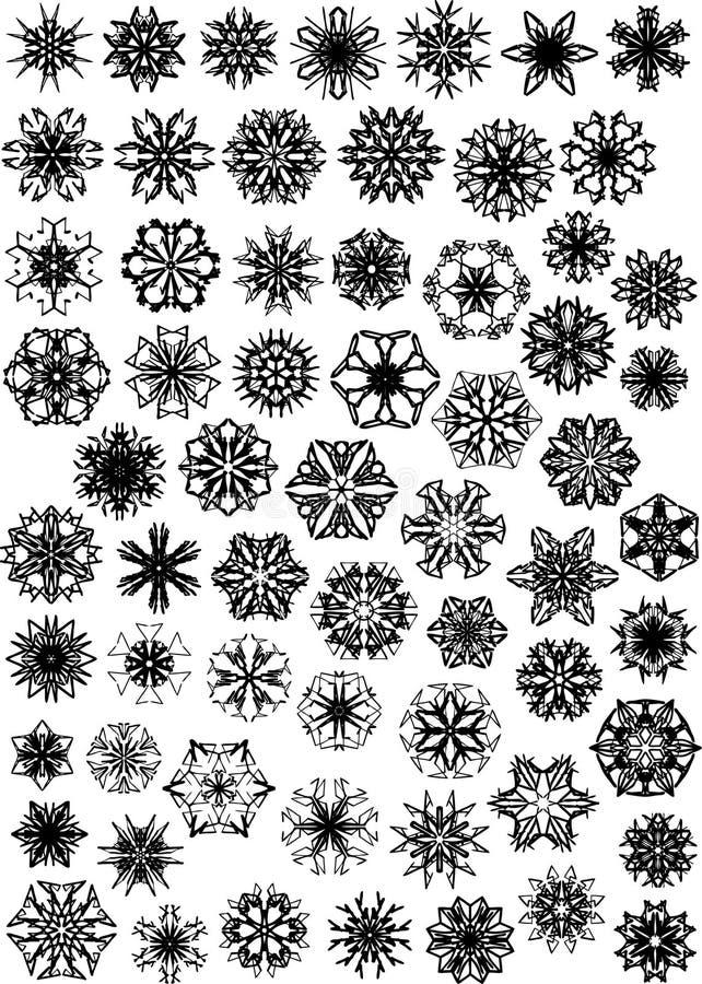 Beaucoup de flocons de neige illustration de vecteur