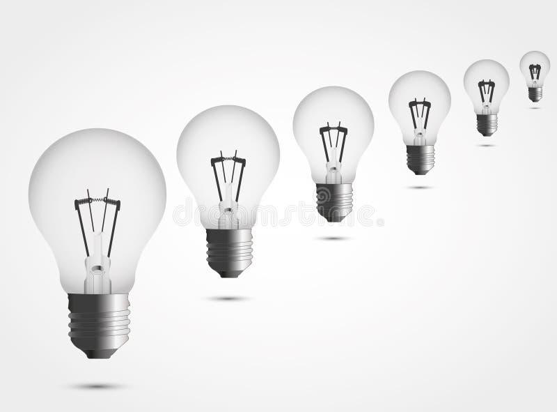 Beaucoup de lampes illustration de vecteur