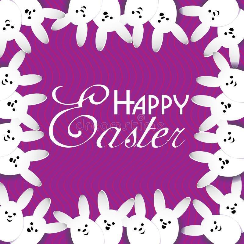 Beaucoup de lapins blancs Pâques illustration libre de droits